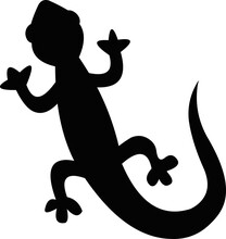 Vector Illustration Emoticon Of The Silhouette Of A Lizard