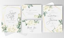 Elegant Wedding Invitation Card Set Template