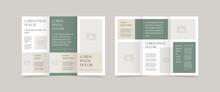 Minimal Style Trifold Brochure Design