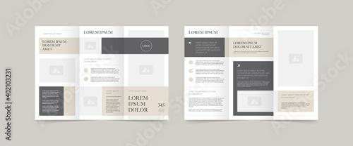 Fototapeta minimal style trifold brochure design  obraz