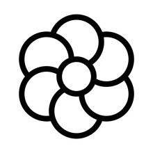 Floral Isolated Vector Icon That Can Be Easily Modified Or Edited