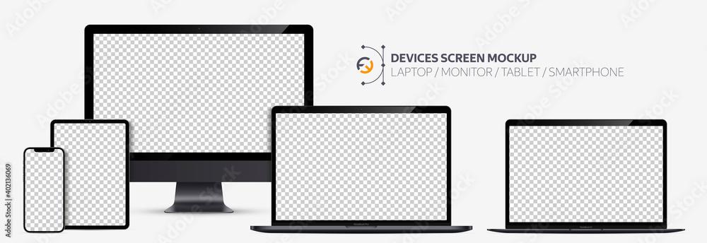 Fotografie, Obraz Realistic devices screen mockup