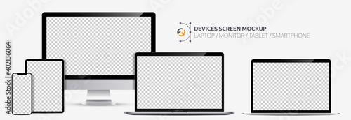 Fotografija Realistic devices screen mockup