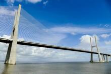 Vasco Da Gama Bridge In Lisbon Portugal, In Lisbon Capital City Of Portugal