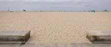 Szeroka Plaża W Kalifornii