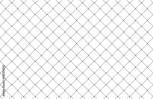 Cuadros en Lienzo Net texture pattern isolated on white background