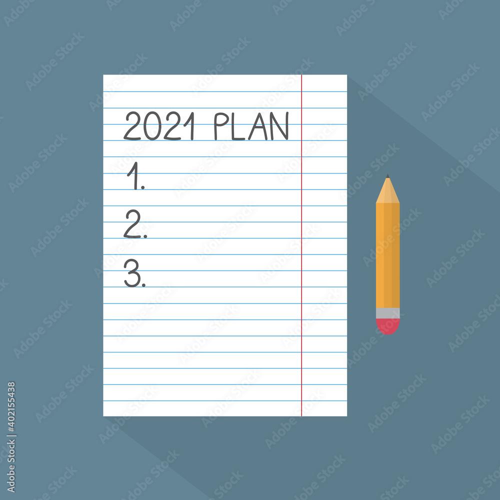 Fototapeta new year's resolutions concept- vector illustration