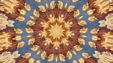 Abstract Kaleidoscope Background In Brown And Blue