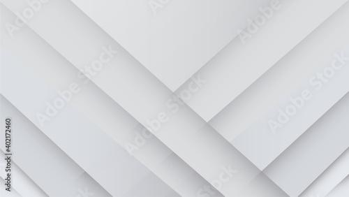 Obraz na plátně Abstract white and grey background