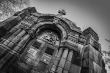 Door Of A Gothic Mausoleum