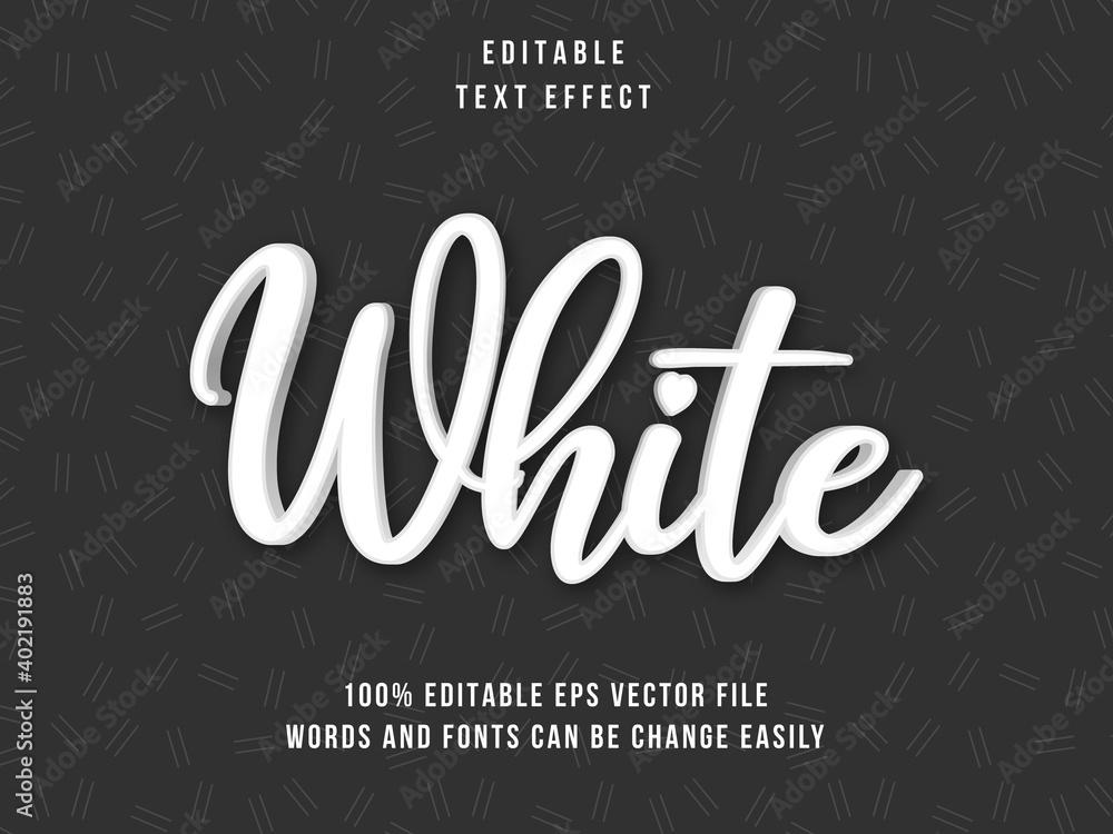 Fototapeta Editable White text effectwith black background