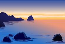 Twilight Rocky Cove