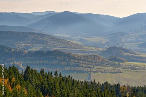autumn in Jesniky, Jeseniky, northern Moravia, Czechia #402220089