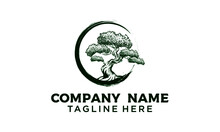 Bonsai, Plants, Mini Trees Are Suitable For Ornamental Tree Enthusiasts, Can Make Simple Vintage Banner T-shirts Logos Modern Logos