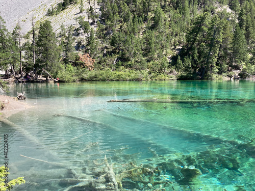 Fotografiet Le Lac Vert, dans la Vallée Étroite, sur la commune de Névache, dans le départem