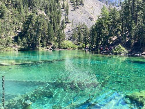 Le Lac Vert, dans la Vallée Étroite, sur la commune de Névache, dans le départem Fototapet