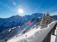 Winter An Der Rossfeld Panoramastraße, Berchtesgaden, Deutschland