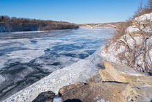 Atop Bluffs Of Icy Mississippi River