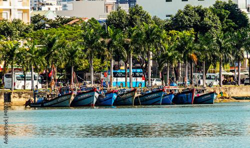 Fotografie, Obraz Boats along Han River