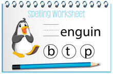 Find Missing Letter With Penguin
