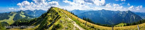 Obraz view at the Bodenschneid mountain - Bavaria - Spitzingsee - fototapety do salonu