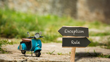Street Sign To Exception Versus Rule