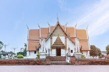 Wat Phumin Temple With Blue Sky.