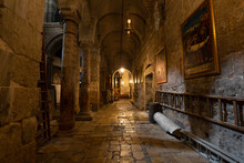 Interior View  Of The Church Of The Holy Sepulchre In Jerusalem, Israel Tomb Of Jesus