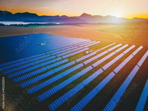 Billede på lærred Blue solar panels