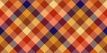 Dark Blue And Red Brick Warm Colors Fabric Texture Of Traditional Checkered Gingham Repeatable Diagonal Ornament For Plaid, Tablecloths, Shirts, Tartan, Clothes, Dresses, Bedding