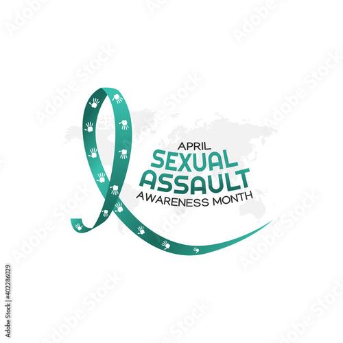 Billede på lærred vector graphic of sexual assault awareness month good for sexual assault awareness month celebration