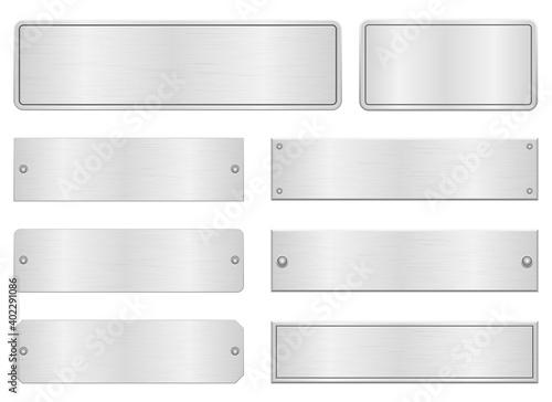 Obraz na plátně Metallic door plate vector design illustration isolated on white background