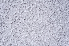 Structure Of Textured White Decorative Plaster As Background.