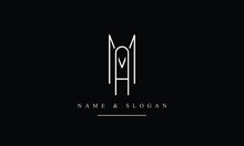 MA, AM, M, A  Letter Logo Design With Creative Modern Trendy Typography