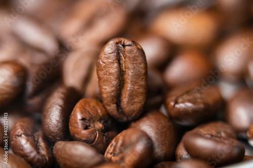 Fototapeta close up of coffee beans obraz na płótnie