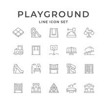 Set Line Icons Of Playground