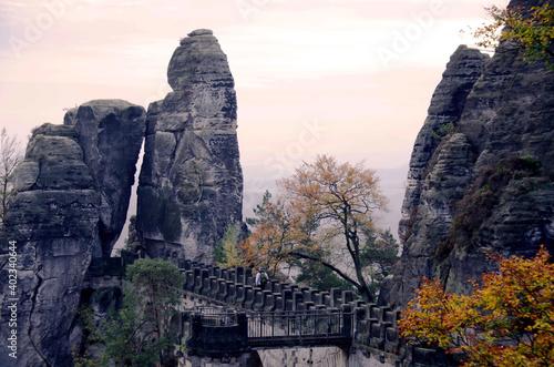 Puente en Alsacia que inspiró a Friedrich Caspar David Fotobehang