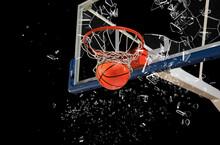 Shattered Backboard. Basketball Concept