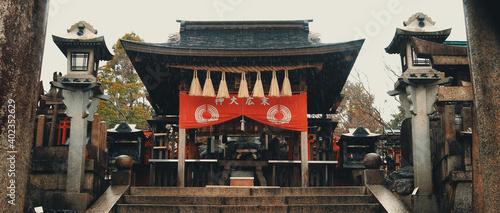 Fotografie, Obraz Fushimi Inari Shrine gate, Shinto shrine in southern Kyoto.