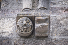 Sculpted Face With Sharp Teeth, Sanctuary Of Our Lady Of Estíbaliz, Alava, Basque Country, Spain