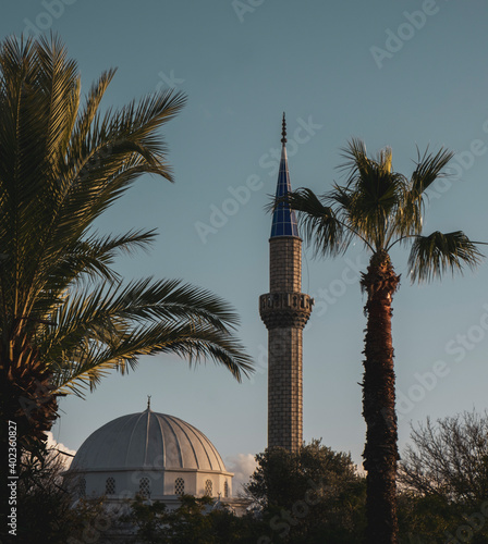 Fotografie, Obraz A peaceful mosque from south of Turkey, Bodrum