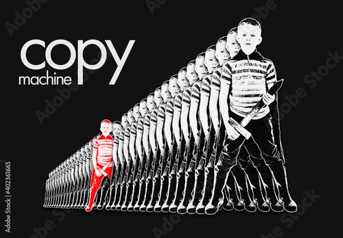 Fototapeta Copy Machine Clone Effect Mockup obraz