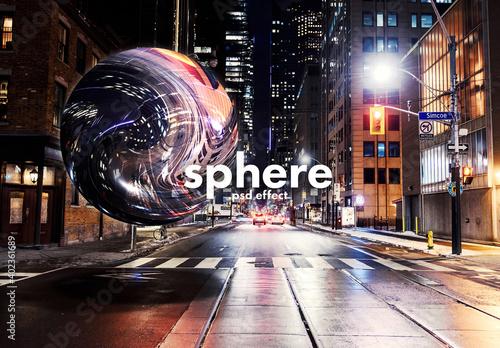 Fototapeta Sphere Effect Mockup obraz