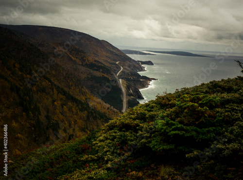 A long view the Caot Trail in Cape Breton Highlands National Park Fototapet