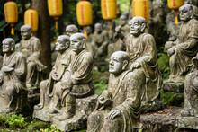 Groups Of Buddhist Arhat Stone Statue