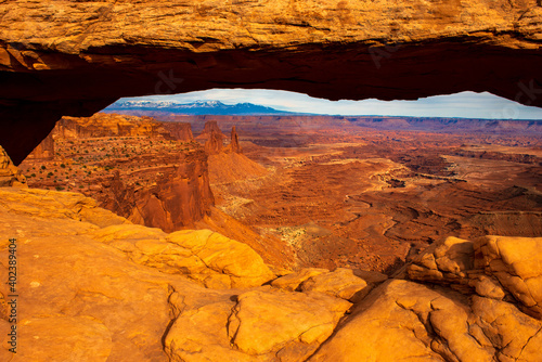 The arches in canyon lands national monument Fototapet
