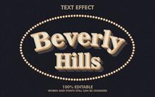 Beverly Hills Vector Text Effect