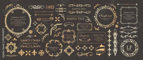 Canvas 高級感のあるフレームデザイン カードデザイン アンティーク ラグジュリー ビンテージ