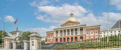 Fotografie, Tablou The Massachusetts State House on the Freedom Trail Boston Massachusetts USA