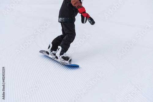 Fototapeta snowboard sport invernali divertimento neve inverno seggiovia funivia